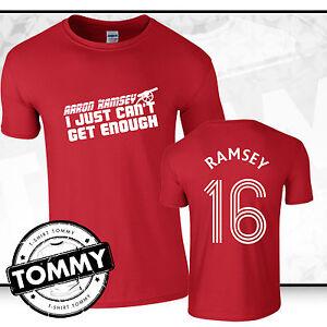 best service f5553 d1cfb Details about Aaron Ramsey Arsenal FC T-Shirt, aaron ramsey tshirt, Arsenal  tshirt
