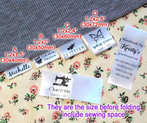 Logo personnalisé vêtements Nom étiquette a coudre en pliant suspendu Tag vêtement personnalisé