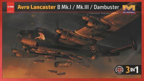 01E012 1//32 Avro Lancaster Bomber//Dam Buster// Canadian  3-in-1 Kit H K Models