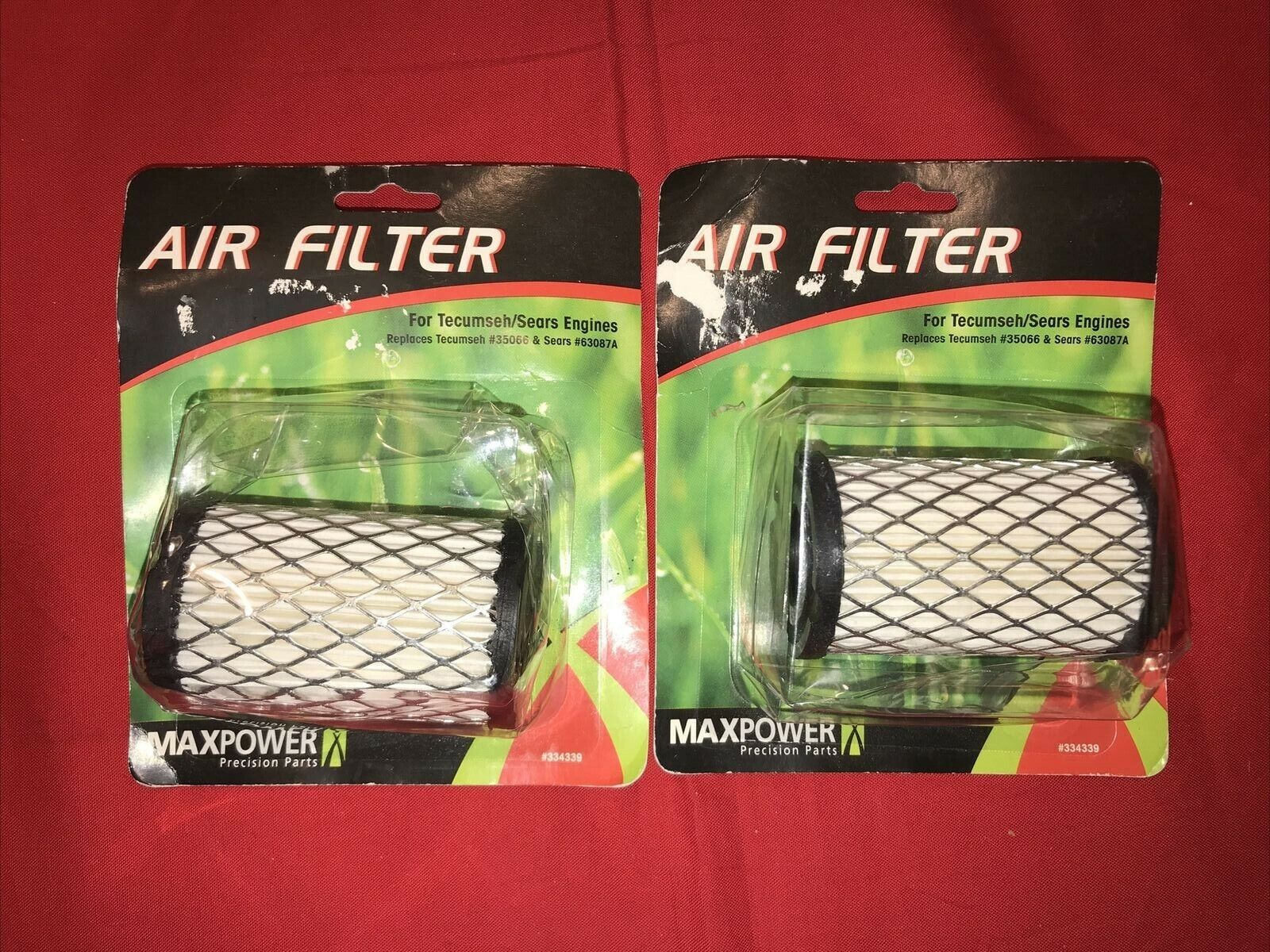 Maxpower 334339 Air Filter for Sears Tecumseh Eager 1 Engines for sale online
