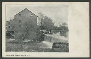 Humphreysville-Greenport-Columbia-Co-NY-c-1905-06-Postcard-STONE-MILL-DAM