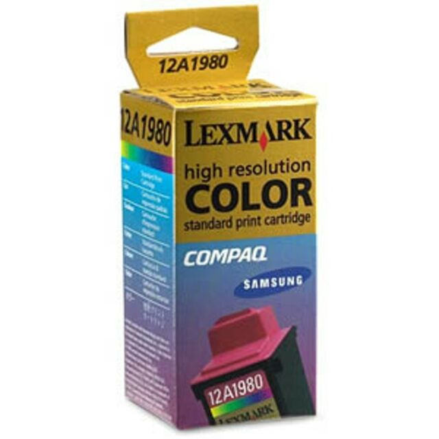 Lexmark #80 Color Ink Cartridge 12A1980 GENUINE NOS