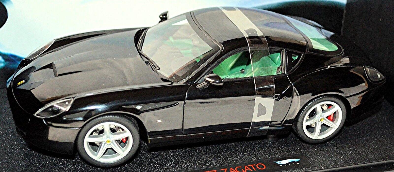 Ferrari 575 GTZ Zagato 2006 black black 1 18 HotWheels-Elite