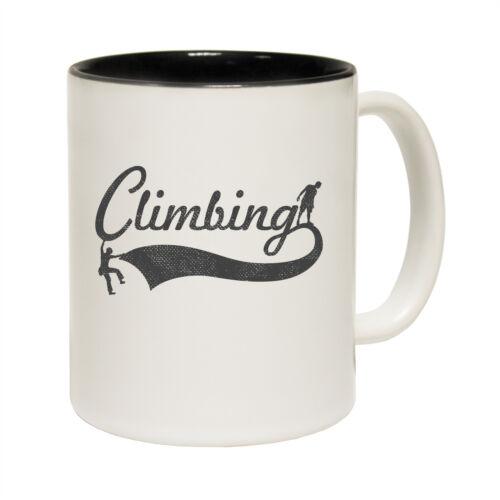 Rock Climbing Bouldering NOVELTY MUG Funny Mugs Adrenaline Addict Climbing