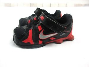 40451980ad7910 Nike Boys Childrens size 7 Black and Red Shox Turbo 13 Tennis Shoes ...