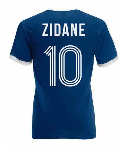 France coupe du monde T-Shirt Nostalgique shirt Coupe du Monde Zidane fantaisie style rétro