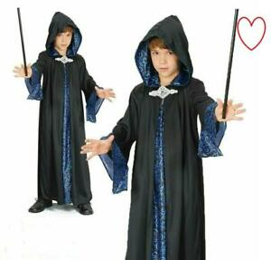 CHILDS WIZARD COSTUME Girls Boys Book Week Fancy Dress Glasses Magician Wand UK