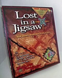 Puzzle-Lost-in-Jigsaw-Maze-Diagonal-Escape-From-Eden-One-Solution-Best-Challenge