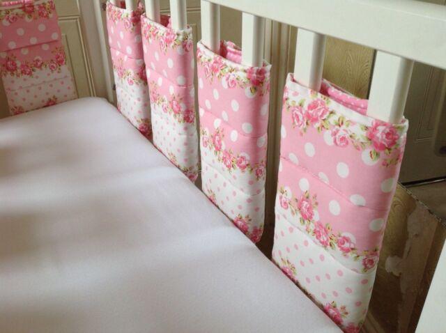 Cushi Cots Filles Rose et taches Bar/Pare-chocs Wraps 10 Pack NEUF
