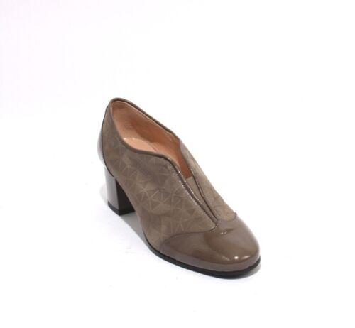 37 daim taupe élastiques en 25 5Us Bottines Isabelle 7 5 verni talons à Chaussures cuir qzSUMpGV