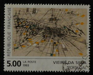 Timbre poste. France. n°2835. gravure.M.H. Viera da Silva