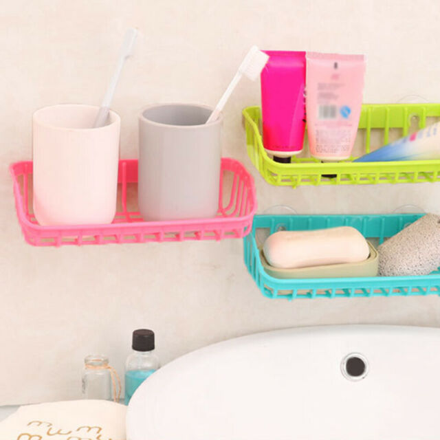 Double Suction Cup Sink Sponge Soap Holder Kitchen Drain Storage Rack