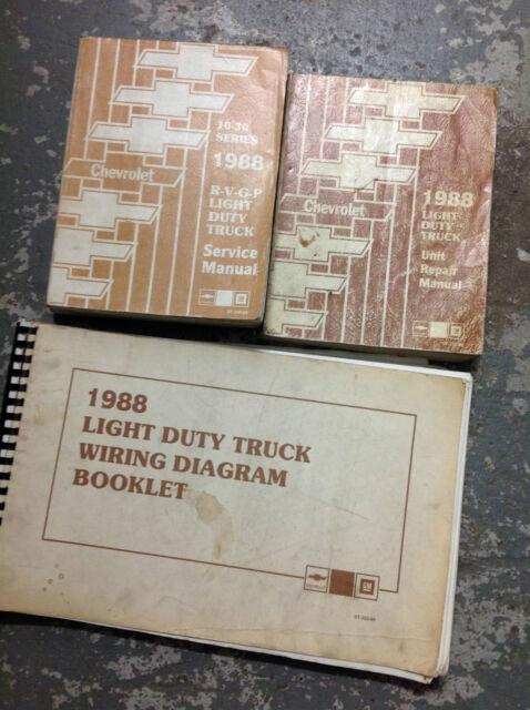 1989 Chevy Rvgp R V G P Truck Service Workshop Shop Repair