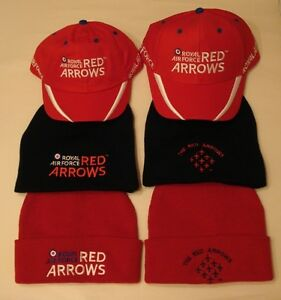 b5c38c53be5 ROYAL AIR FORCE RED ARROWS CAP   SKI HAT -CHOICE OF 6- OFFICIAL ...