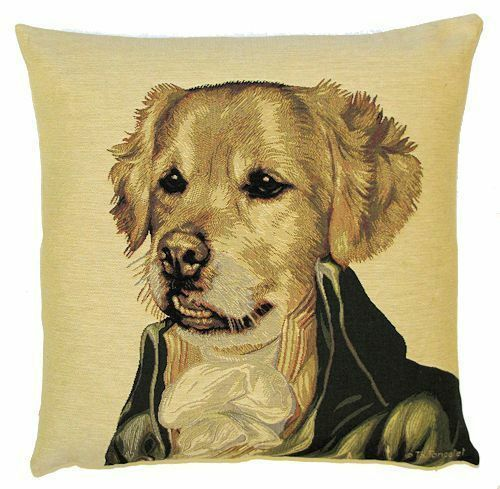"""NEW 18/"""" SIR BASIL ARISTODOGS BELGIAN TAPESTRY CUSHION COVER WITH ZIP 4770"""
