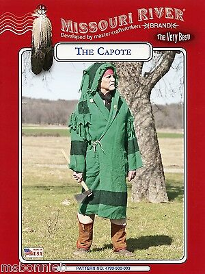 Missouri River Capote Hooded Blanket Coat Sewing Pattern - Buckskinners & Indian