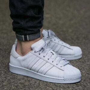 Adidas Originals Superstar Triple White Suede Heel Reflective 8.5 ...