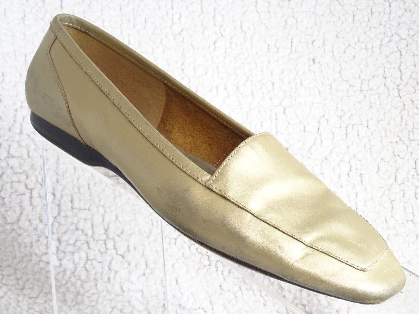Capezio Women's 8M  Gold Jenny BONE Shoes Slip-On LOAFERS Leather FLATS Shoes BONE 232fc8