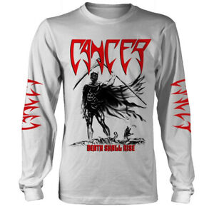 Cancer-Death-Shall-Rise-White-Long-Sleeve-Shirt-S-XXL-Death-Metal-T-Shirt