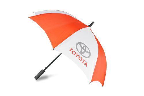 Genuine OEM Toyota Red /& White Branded Dome Umbrella
