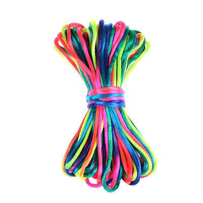 10Meter Chinese Knot Satin Nylon Braided Cord Macrame Beading Rattail Cords YGZY