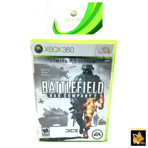 Battlefield-Bad-Company-2-2010-Xbox-360-Game-Tested-Works-Case-Manual-Disc