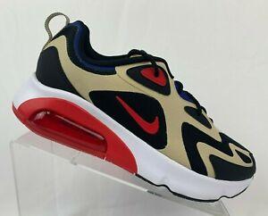 Nike-Air-Max-200-Men-039-s-Sportswear-Running-Shoes-AQ2568-700-Gold-Red-Black-NEW