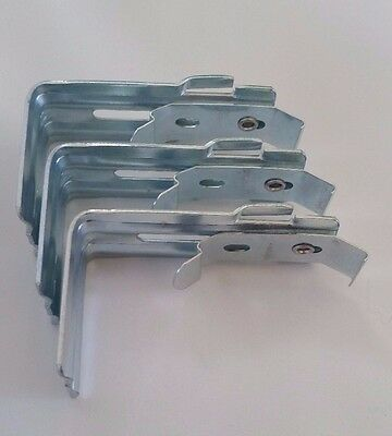 Vertical Blind Wall Mount Brackets With Clips And Built In