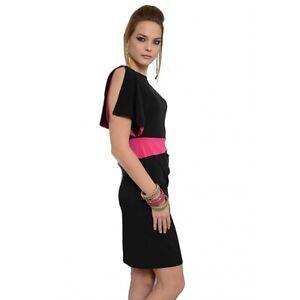 cheaper eb016 dcefd Dettagli su Edas abito Jinarzo vestito FUCSIA/NERO cerimonia casual jersey  dress 44-54