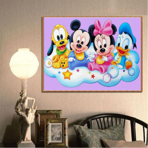 Full Drill 5D Diamond Painting Art Craft Mickey Mouse Kits Art Embroidery Hobby