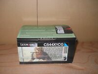 Sealed Genuine Lexmark C544x1cg Cyan Extra High Yield Toner Cartridge C544