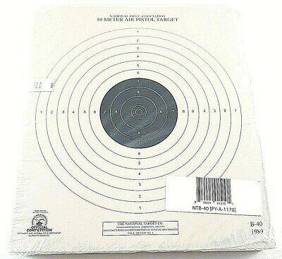 100 NATIONAL TGT 25 Ft Air Pistol Slow Fire NRA Single Bullseye PAPER TARGETS