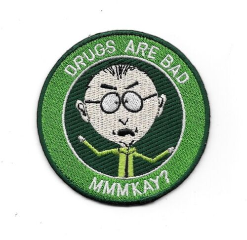 "South Park TV Series Mr Mackey Drugs Are Bad 3/"" Premium Quality Patch"