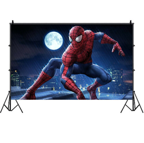 Spiderman film Photography Backdrop Parti PHOTO DECOR Prop Background