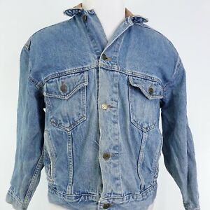 VTG MARLBORO COUNTRY STORE MEDIUM WASH DENIM JEAN JACKET SIZE S SMALL 90s