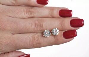 REAL-14K-WHITE-GOLD-2-10-CARAT-DIAMOND-ROUND-CUT-STUD-POST-SCREW-BACK-EARRINGS