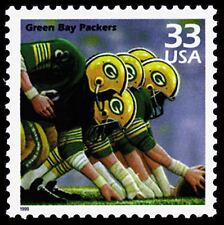Green Bay Packers Honored 13 Yr Old Mint Vintage US Stamp Free Ship
