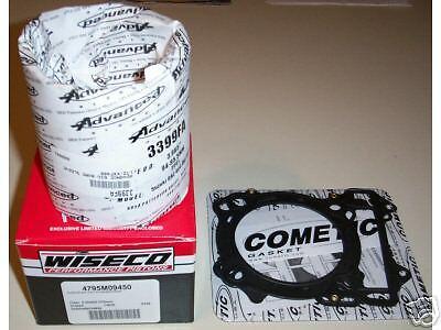 Wiseco Piston Kit Honda TRX450R TRX450 TRX 450 450R R 99mm 04-05 12.5:1 BIG BORE