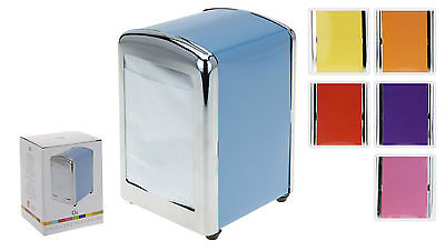 Retro Style Napkin Dispenser - Diner Style Choice of 6 Candy Colours