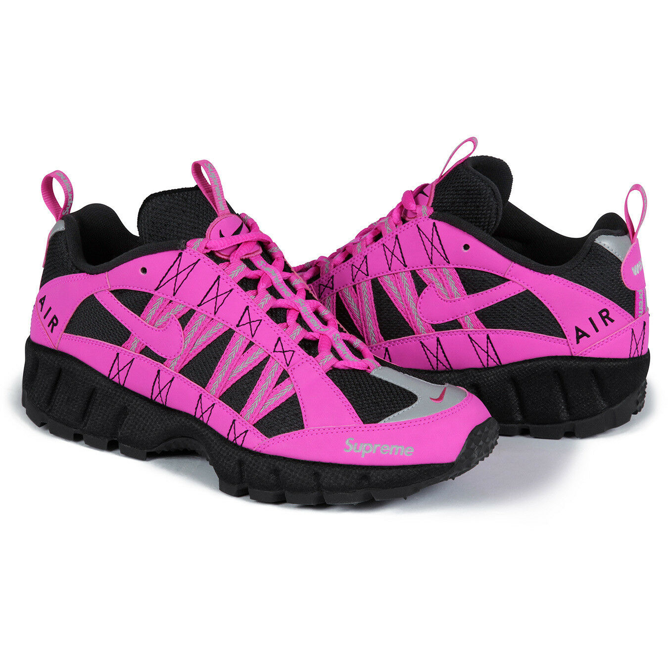 Supreme Reflective x Nike Air Humara Reflective Supreme Trail Runner Shoes, Pink, Size 8 eaceea