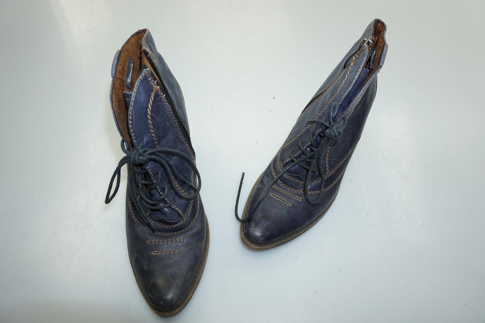 schicke TAMARIS Damen Schuhe Stiefel marine Stiefeletten High Heels Gr.38 marine Stiefel TOP 084e59