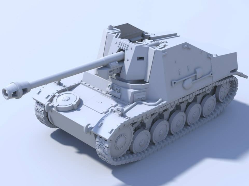 1 48 German Marder II Tank Destroyer Blitzkrieg Miniatures WWII Bolt Action BNIB