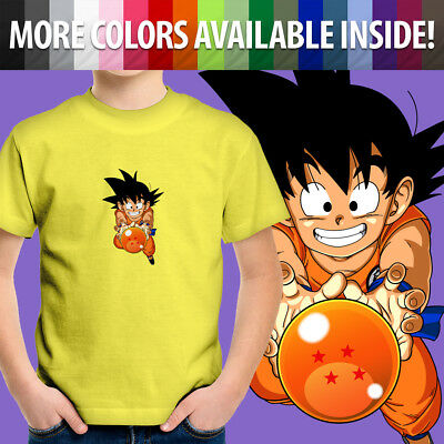 Manga Dragon Ball Goku Unisex Boys Girls Kids Gift  T-shirt