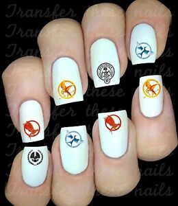 HUNGER-GAMES-logo-Stickers-autocollant-ongles-manucure-nail-art-water-deco