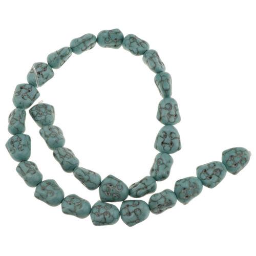 DIY Runde Perlen Howlith Türkis Leere Beads Zwischen Perlen Schmuck