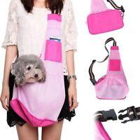 3 Size Oxford Cloth Sling Pet Dog Cat Carrier Single Shoulder Bag Handbag Pink
