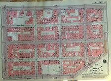 1955 INWOOD ACADEMY-208TH STREET MANHATTAN NY G.W. BROMLEY PLAT ATLAS MAP 12X 17