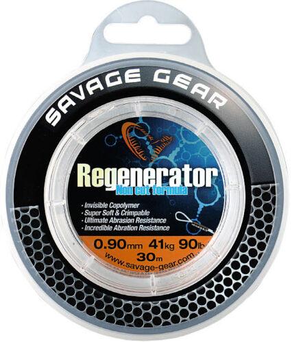 SAVAGE GEAR Regenerator Mono 30m Raubfischvorfach Hard Mono fast unsichtbar