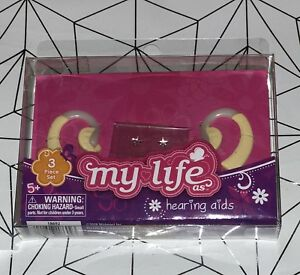 "2 Hearing Aids /& Earring Sticker Sheet My Life as fits 18/"" Doll Girl Boy"