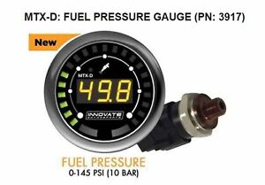 Innovate 3917 MTX-D Fuel Pressure Gauge 0-145 PSI 10 BAR with Low Press Warning